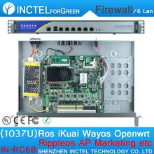 1037u Multi Gigabit Network Port Routing Enterprise-class Firewall Router with Intel PCI E 1000M 6*82574L