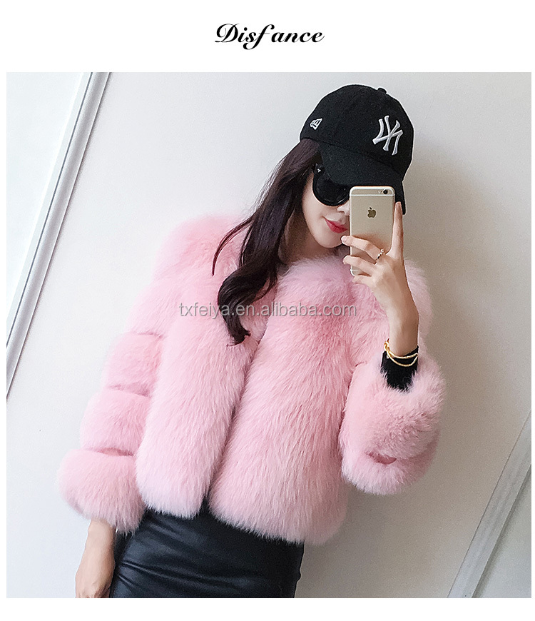 Stable Quality Jacket Long Style multi color Winter Coat 2017 Fox Cheap Fur Coats