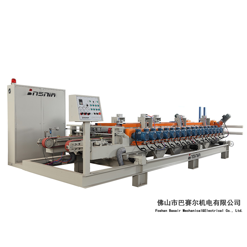 Squaring & chamfering Machine Fully-automic 16+1 For Ceramic Tile Prodction Line