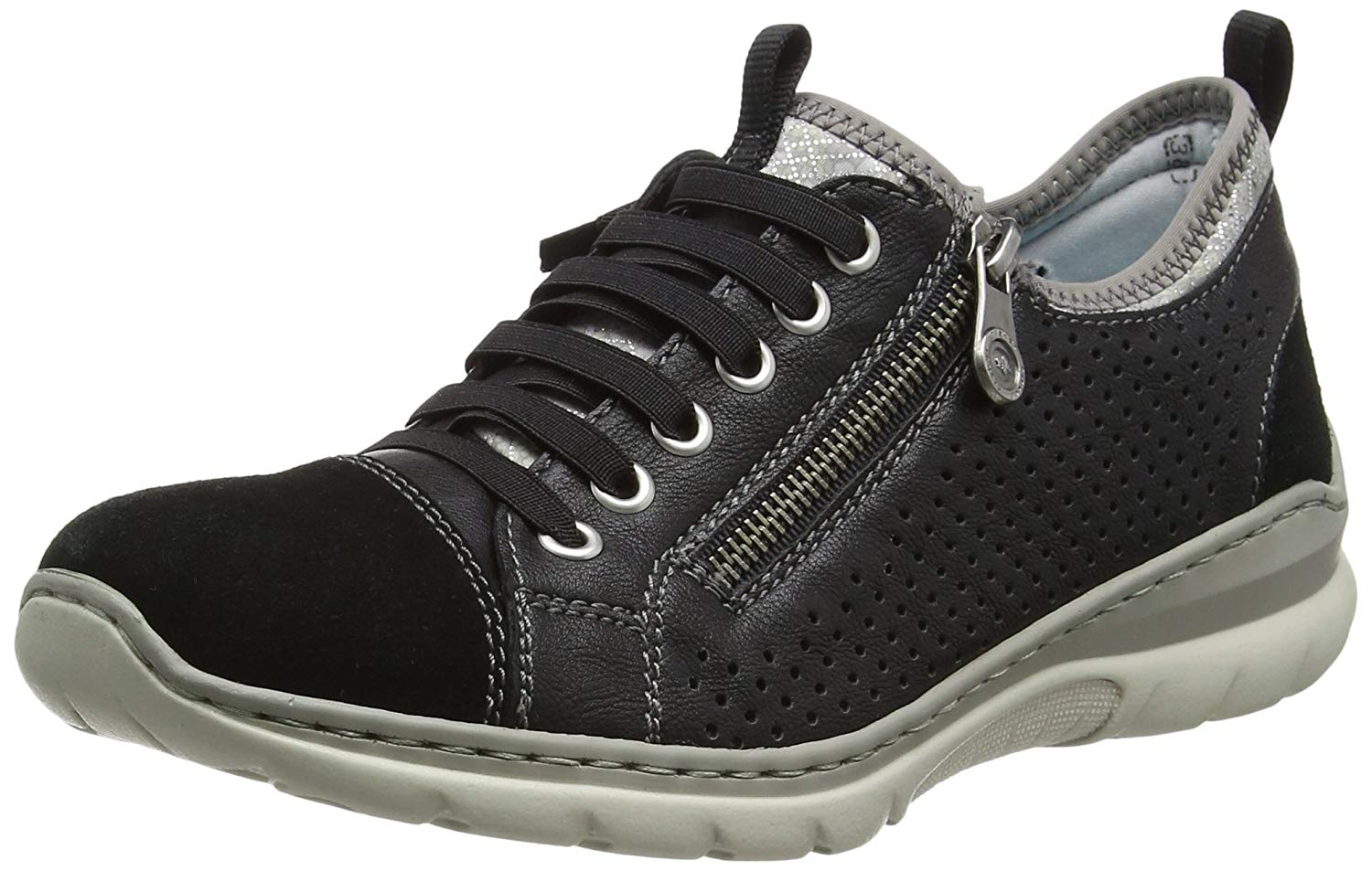 Rieker Women's Lace Up Trainer Sneaker Shoe (L3277-01)