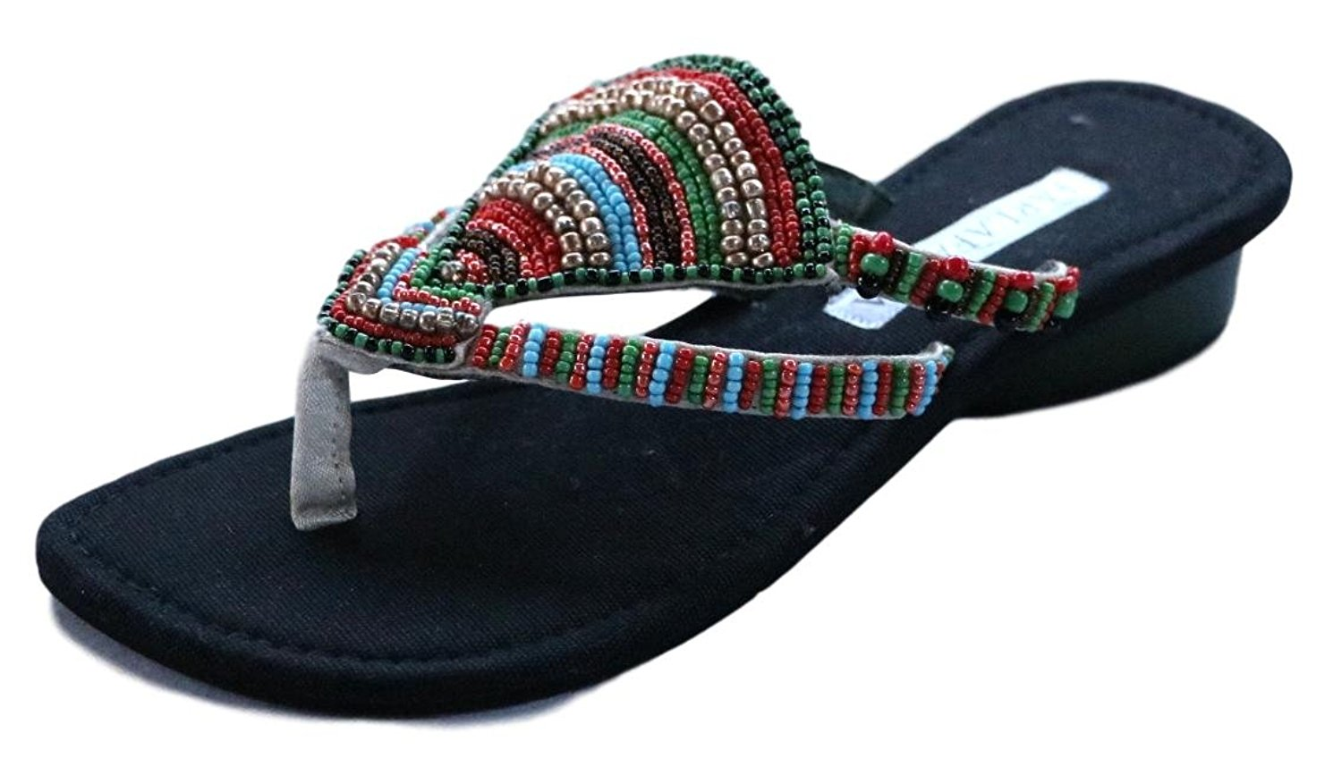 d3fa9a8f89aa Get Quotations · Bali Thai Imports Handmade Beaded Low Heel String Thong  Sandals