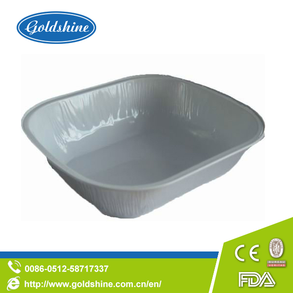 Container Type disposable airline aluminum foil food container/tray