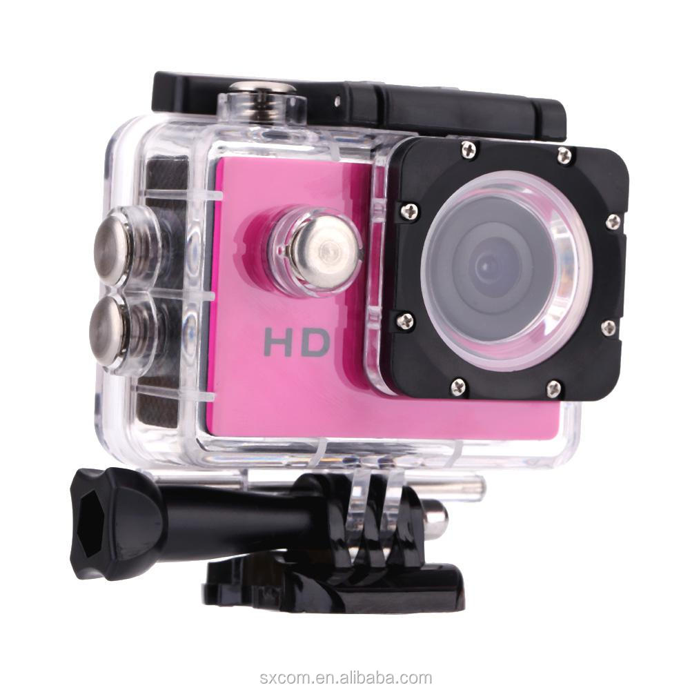 "HD 720P Mini Sport DV Action Camera 1.5"" LCD 120 Degree Wide Angle Lens 30M Waterproof Sport Camera Digital Camcorder"