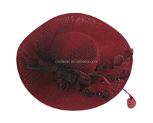 Wholesale nobleness and elegance kermesinus wedding headwear