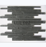 Natural brick look black slate/paving stone mosaic wall and floor tile