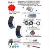 new 200W Professional DIY RV/Boat/Marine Kit pay as you go solar system solar panel home system power planets