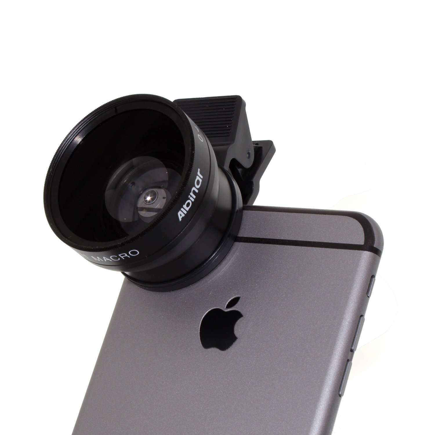 Albinar 2 in 1 Clip-On 0.45X Professional 37mm Wide Angle High Definition Lens with 10X Macro for Apple iPhone 6s 6 plus 6 5 iPad Samsung Galaxy Android Mobile Smart Phones & Tablets