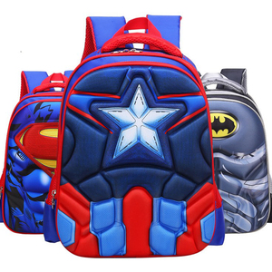 2018 Amazon Children Alleviating Burdens Kids Cartoon Pictures Captain America EVA Backpack School Bag