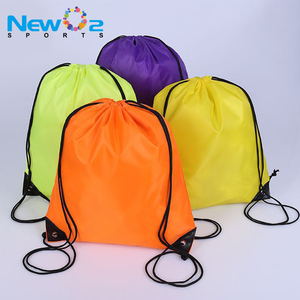 Promotional Custom Logo 210D Nylon Drawstring Bag