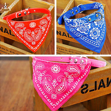 7 Colors Optional Adjustable Pet Dog Collar Scarf Puppy Cat Bandana for Dogs Decoration Neckerchief Paisley Particular Custom
