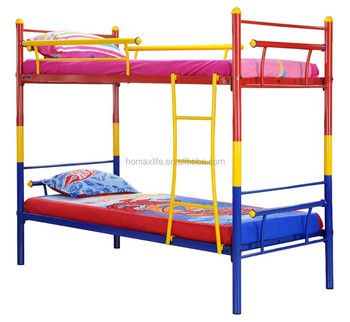Most Popular Colorful Red And Blue Kid Children Bed Furniture Strong
