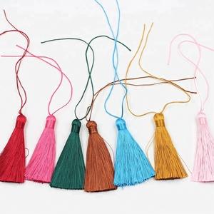 8cm Long Colorful Trim Jewelry Polyester Tassel Fringe