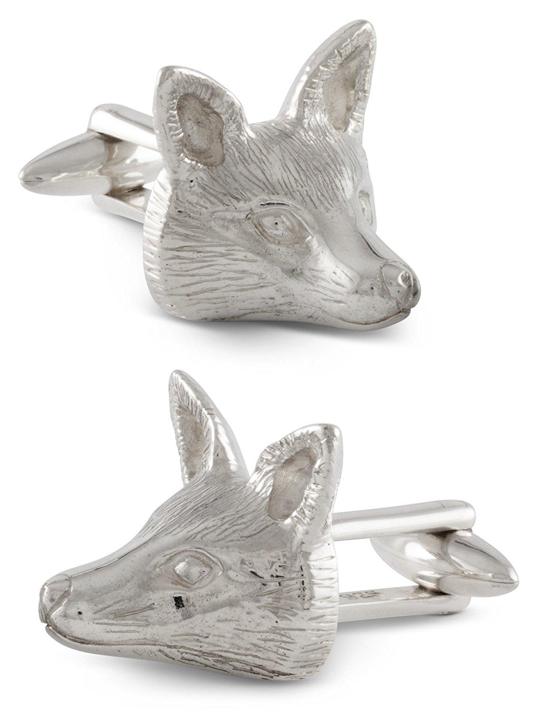 ZAUNICK Fox Cufflinks, Sterling Silver