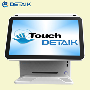 Detaik 15 Inch True Flat Dual Screen All in One Computer Touch System Pos Terminal