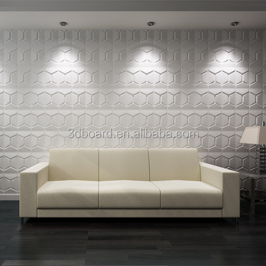 Plant fiber decorative 3d floor wall mural non woven wallpaper with embossed design