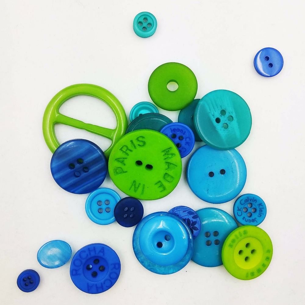 Sewing Craft Buttons for garment accessory Polyester Shirt Button 12sets Pak