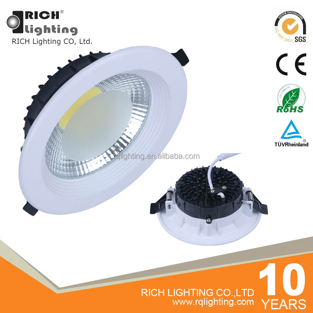 Factory low price high quality 20w 6inch recessed COB led downlight dimmable led ceiling light