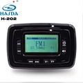 latest product H-202 12V power Waterproof bluetooth motorcycle mp3 system