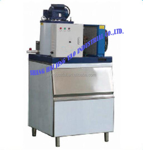 ISO90001 Certified ice bag big truck ammonia refrigeration -making machine in bars costume stainless steel flake