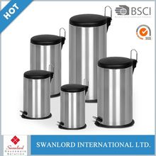 High Quality Round Shape Stainless Steel Waste Bin With Foot Pedal