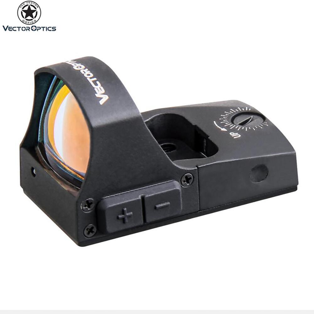 Vector Optics Riflescope Spirit 1x25 OEM Best Tactical Mini 3MOA HD Reflex Red Dot Sight Scope for Pistol Glock Hunting Shooting