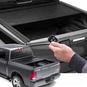 "Electric Roll Up Rolling Retractable Truck Bed Cover for Silverado Sierra 1500 2500HD 3500HD 5'8"" Extra Short Bed Tonneau Cover"