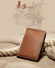 business and casual style small man leather wallet