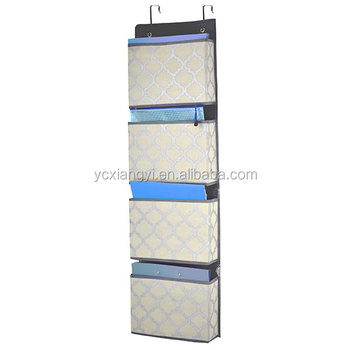 Home And Office Wall Hanging File Holder Door Organizer Pocket Organize Magazine