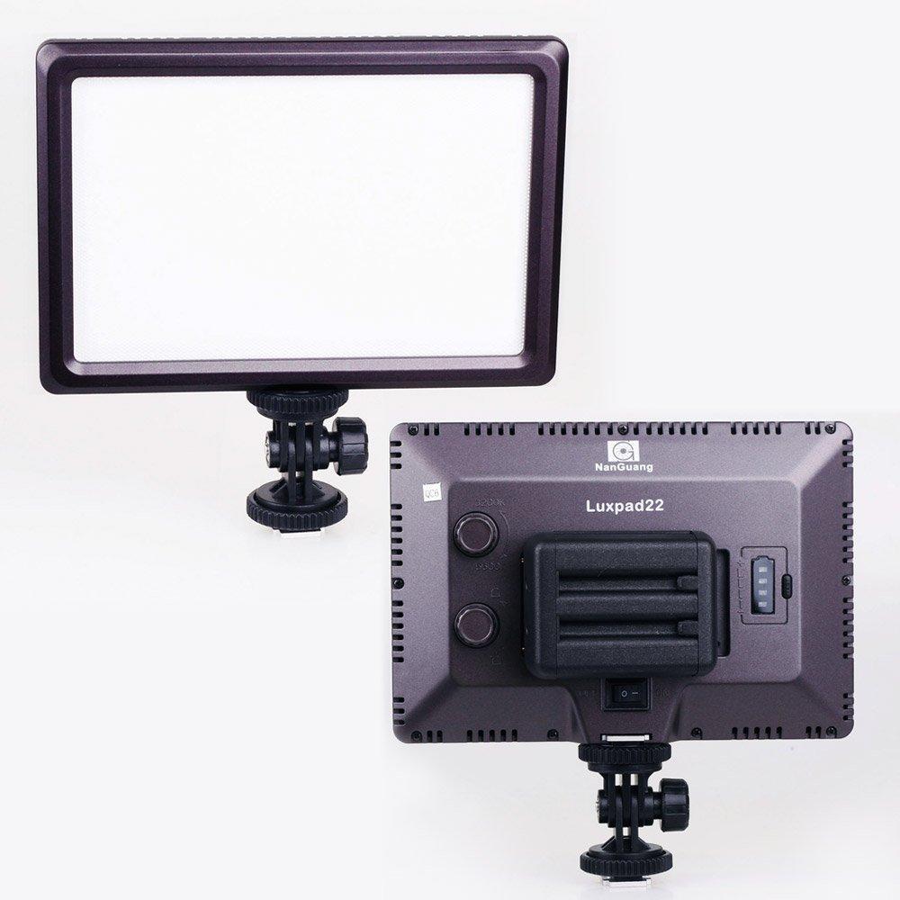 CN-LUXPAD22 Ultra Thin 112 LED 112LED 5600K /3200K Video On-Camera Light Pad for Canon Nikon DSLR DV