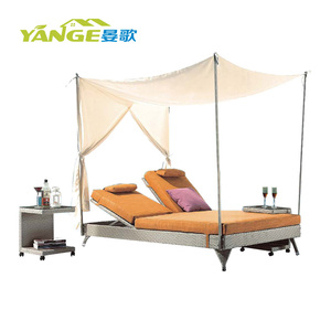 China outdoor metal frame rattan daybed manufacture