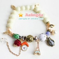 candygirl brand ladies accessories pendant handmade women jewelry bead fashion charm bracelet