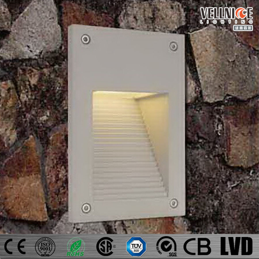 Rectangle Exterior Stair Light,LED Slide Step Light Indoor Recessed Wall Lamp