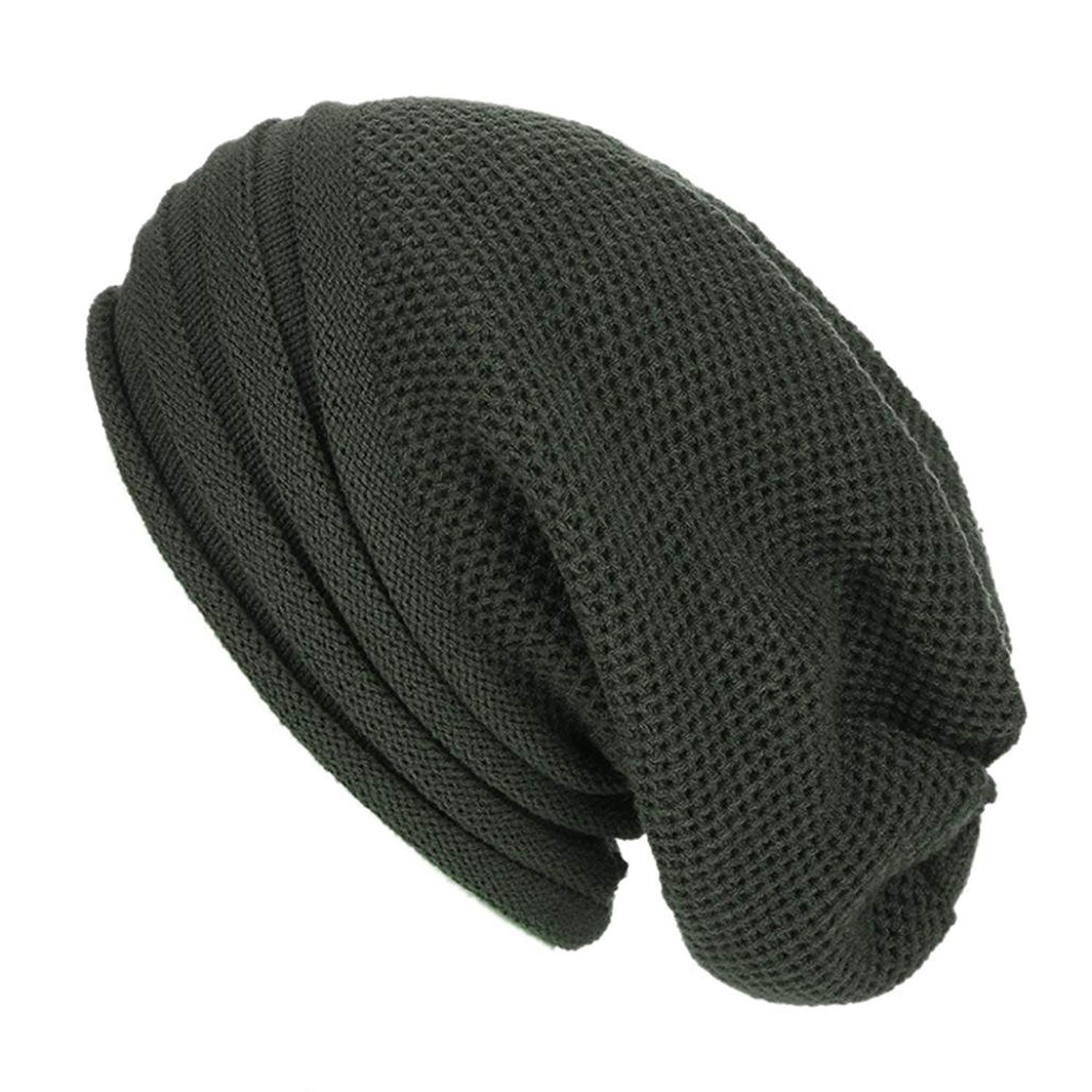 Slouch Beanie, Forthery Mens Women Winter Ski Wool Baggy Hat Skull Beanie Toboggan Knit Hat/Cap