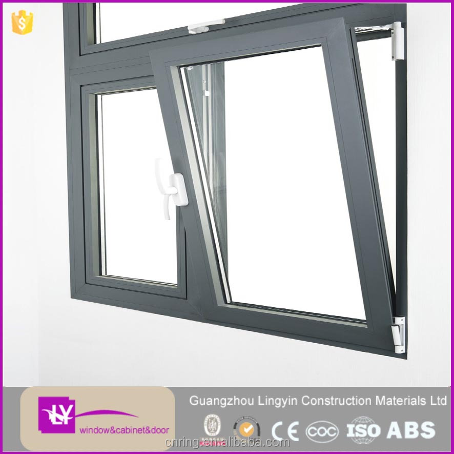 HIgh Quality Tilt and Turn Aluminum Windows 5+9+5mm Double Tempered Glass Window