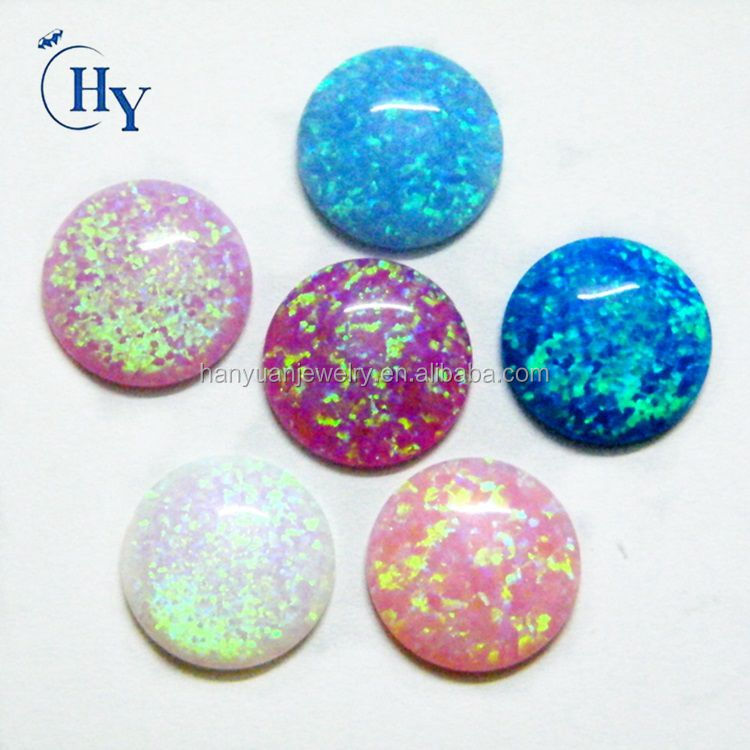 Synthetic loose gemstone 4mm 6mm 8mm round cabochon opal gemstone price