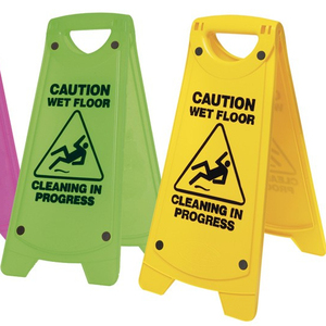 Professional Hazard Safety Sign Cleaning Slippery Wet Floor Warning Caution Board