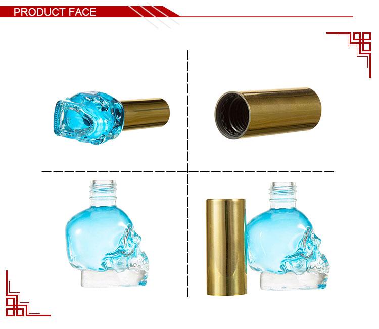 Por Encargo 6 Ml Mini Cristal Vacía Cráneo Botella De Esmalte De ...