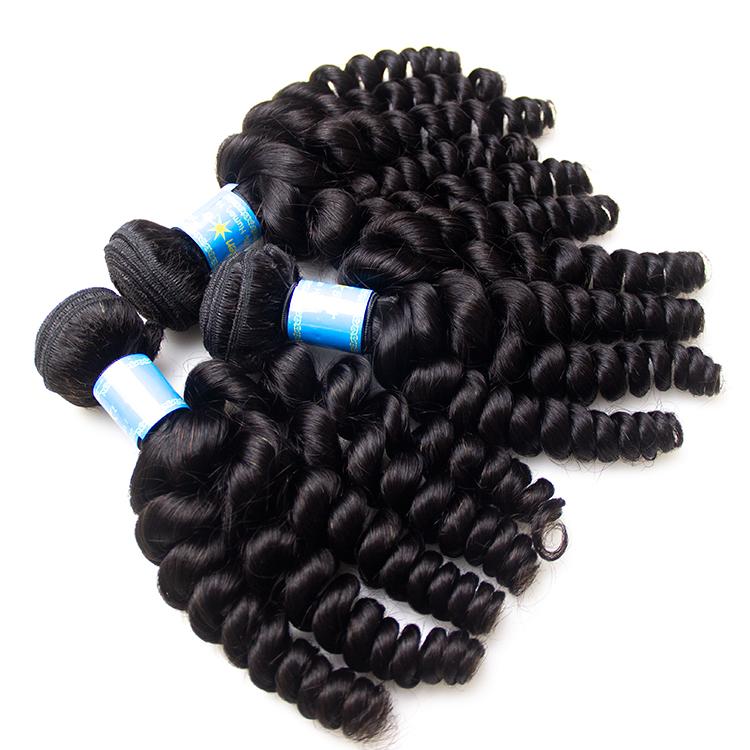 Alibaba.com / Double afro 100% mink bulk curly unprocessed double drawn Brazilian indian wholesale vendors cheap virgin cuticle aligned hair