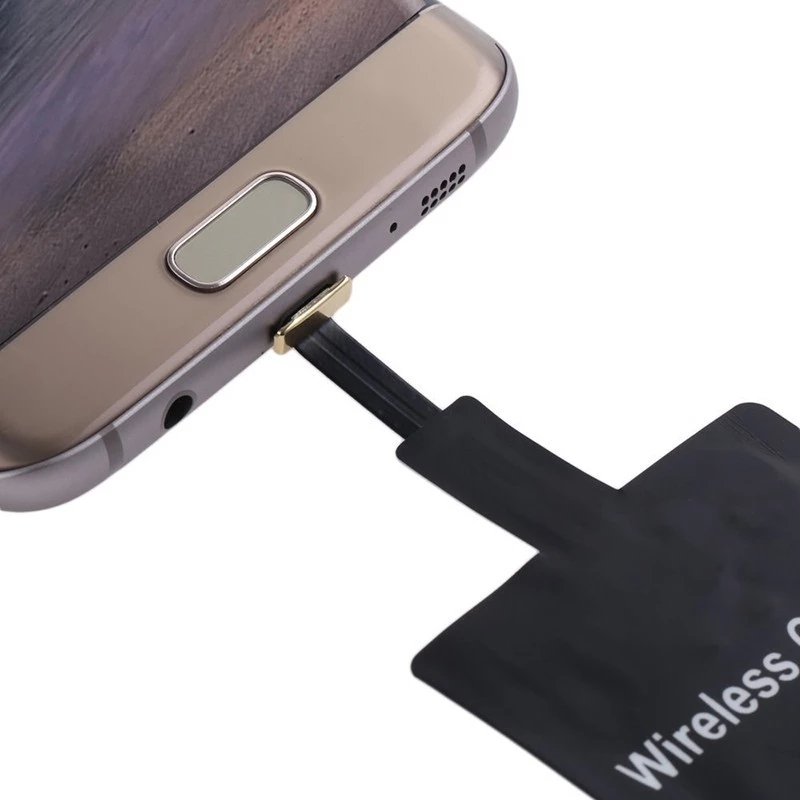 Qi Wireless Charging Ricevitore Ultra Slim Micro USB Universale QI Receiver Caricabatterie Senza Fili Per Android
