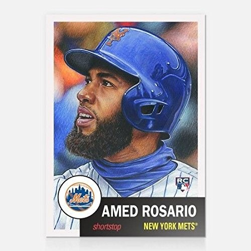 2018 Topps The Living Set #23 Amed Rosario RC Rookie New York Mets Baseball Card