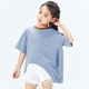 DATA STUDIO Breathable Summel 100% Cotton Striped Unique Top Design Oversized T Shirt for Girls