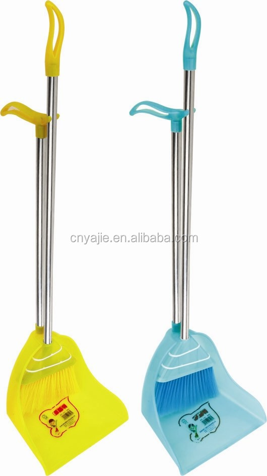 Plastic Cleaning Item Home Usage Long Handle Dustpan With Broom ...