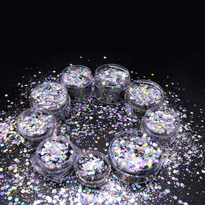 Fancy Shinein Custom mixed sizes and colors cosmetic holographic glitter powder for nail and body art