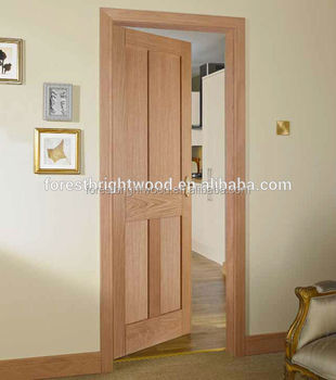 Superior Mahogany Veneered 4 Panel Shaker Interior Doors