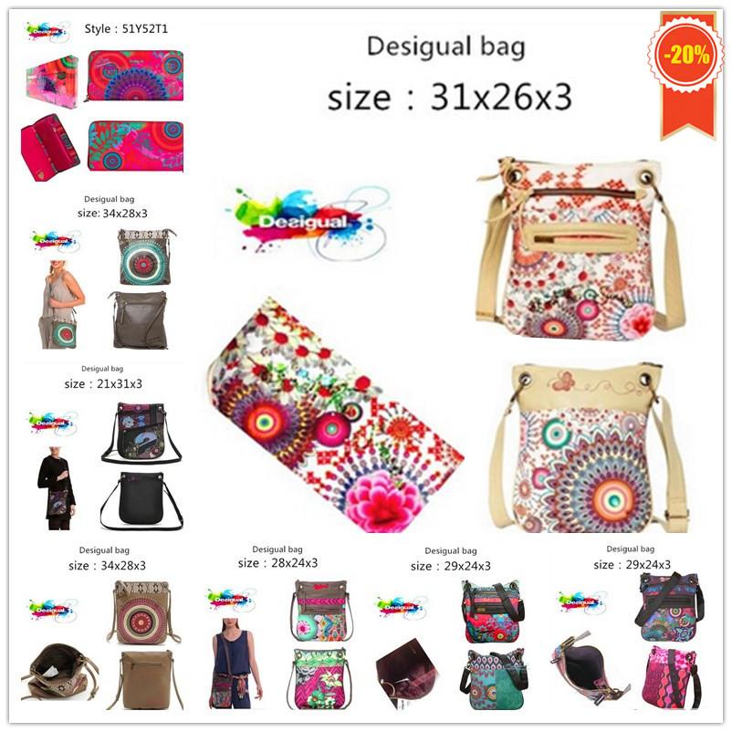 274aad17821 Get Quotations · New 2015 Spain brand Desigual Fashion Handbag shoulder bag  Messenger Bag Leather Women tote bags Wallet