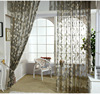 Classic moderism mesh tulle curtain with leaf design 100% polyester