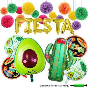 Fiesta Party Supplies Foil Ballons 24 Large Cactus Ballon Cinco De Mayo Decorations Mexican Theme Ballons Party Decoration Buy Ballons Party