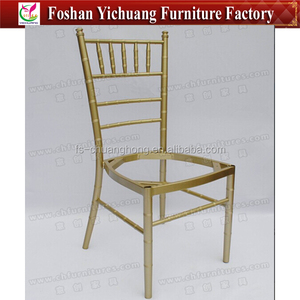 Metal Champagne Color Tiffany chair frame with permanent cushion YC-A207