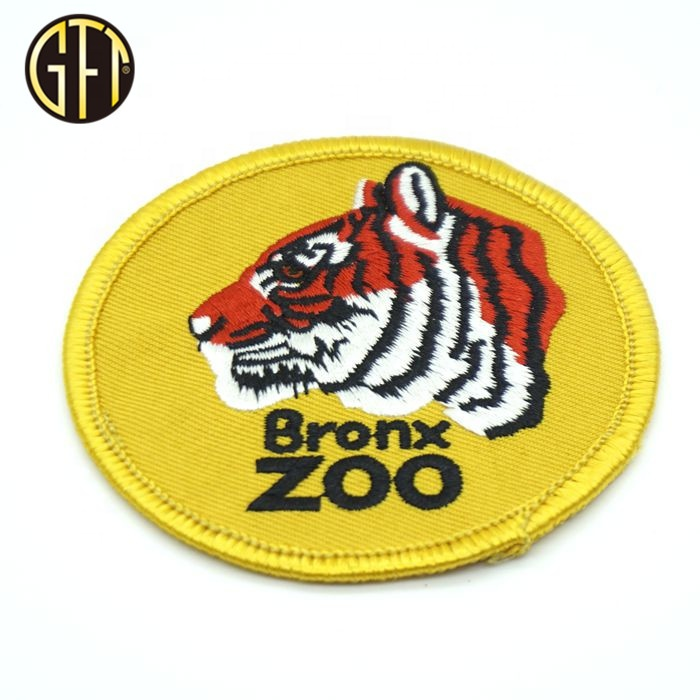 Factory Hot sale customized round  patches with woven embroidery badge