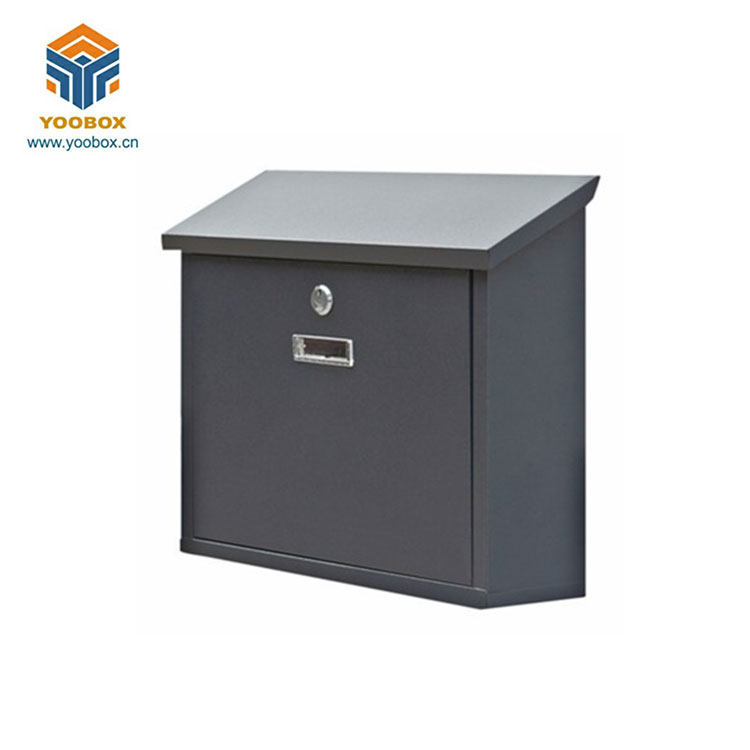 YOOBOX High Quality Security Metal Locking Steel Wall Mount Mailbox